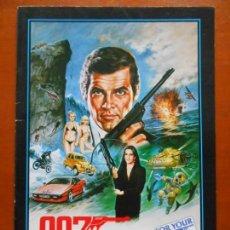 Cine: GUÍA JAPONESA JAMES BOND 007 SOLO PARA SUS OJOS. JAPAN PRESSBOOK FOR YOUR EYES ONLY. ROGER MOORE.. Lote 168303780