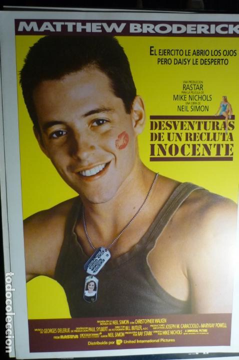 GUIA DOBLE DESVENTURAS DE UN RECLUTA INOCENTE- MATTHEW BRODERICK (Cine - Guías Publicitarias de Películas )