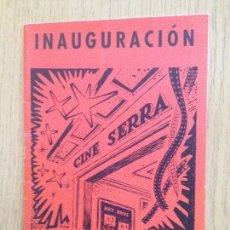 Cinema: INAGURACION CINE SERRA 1958 ,MATARO. Lote 168465824