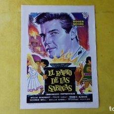 Cine: EL RAPTO DE LAS SABINAS. GUIA PUBLICITARIA DOBLE. ROGER MOORE. EL SANTO. RICHARD POTTER.1967.. Lote 168855084