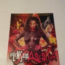 Cine: LA LENGUA ASESINA GUIA PUBLICITARIA ORIGINAL DE CINE. Lote 168411248