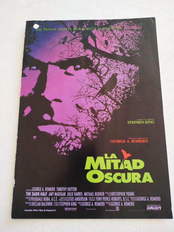LA MITAD OSCURA GUIA PUBLICITARIA ORIGINAL DE CINE (Cine - Guías Publicitarias de Películas )