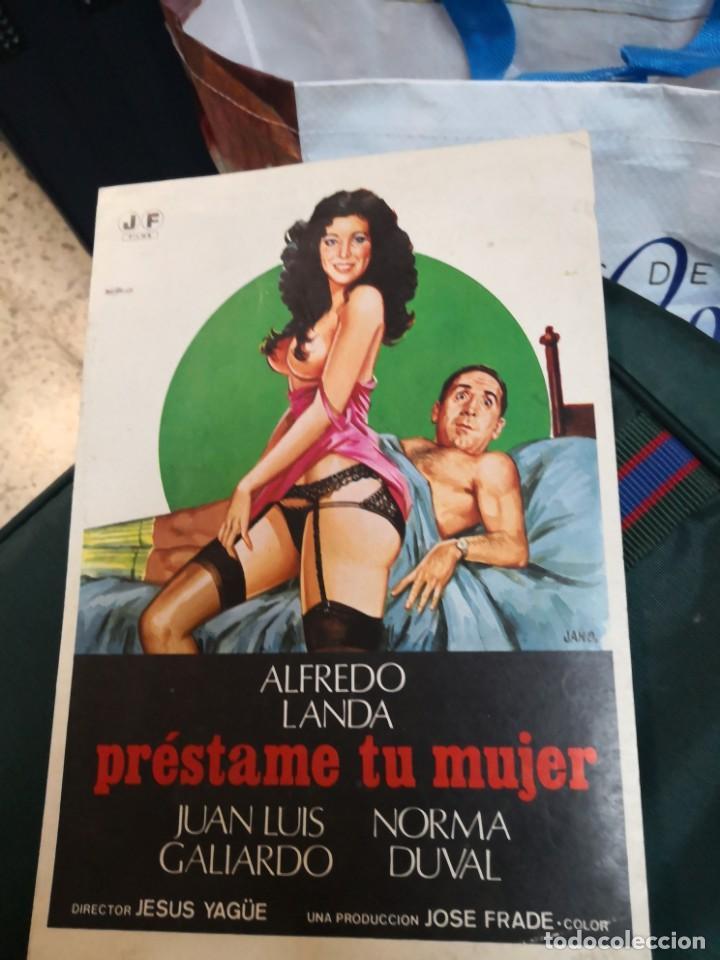 COLECCION GUIAS DE CINE- JOSE FRADE-PRESTAME A TU MUJER-ALFREDO LANDA-NORMA DUVAL -AÑOS 80 (Cine - Guías Publicitarias de Películas )