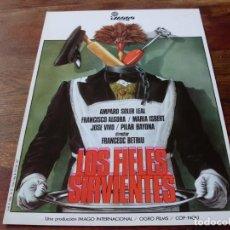 Cine: LOS FIELES SERVIENTES - AMPARO SOLER LEAL,PACO ALGORA,MARIA ISBERT - GUIA ORIGINAL IMAGO FILMS 1980. Lote 169334316