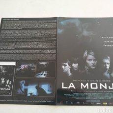 Cine: LA MONJA GUIA PUBLICITARIA ORIGINAL DE CINE. Lote 168605861