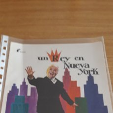 Cine: GUIA PUBLICIDAD UN REY EN NUEVA YORK CHARLES CHAPLIN 1978. Lote 169430526