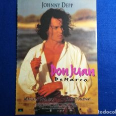 Cine: GUIA PUBLICITARIA: DON JUAN DE MARCO. CON: JOHNNY DEEP, MARLON BRANDO.. Lote 171467929