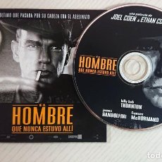 Cine: EL HOMBRE QUE NUNCA ESTUVO ALLÍ * CD DE PRENSA / MATERIAL ORIGINAL PARA MEDIOS * JOEL & ETHAN COEN. Lote 171974203