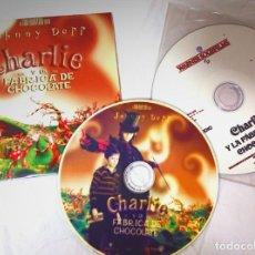Cine: CHARLIE Y LA FÁBRICA DE CHOCOLATE 2 CDS ORIGINALES CON MATERIAL PARA MEDIOS TIM BURTON · JOHNNY DEPP. Lote 172082390