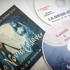 Cine: LA NOVIA CADÁVER 2 CDS ORIGINALES DE PRENSA / MATERIAL PARA MEDIOS · TIM BURTON. Lote 172091444
