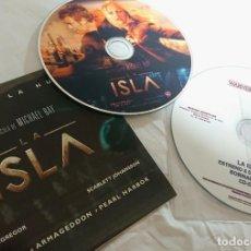 Cine: LA ISLA · 2 CDS ORIGINALES DE PRENSA / MATERIAL PARA MEDIOS. Lote 172108683