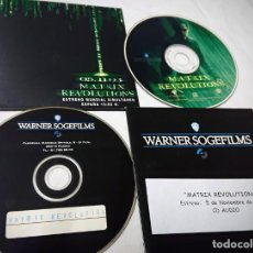 Cine: MATRIX REVOLUTIONS · 2 CDS ORIGINALES DE PRENSA / MATERIAL PARA MEDIOS · KEANU REEVES. Lote 172110748