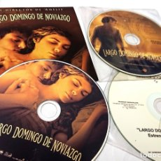 Cine: LARGO DOMINGO DE NOVIAZGO · 3CDS ORIGINALES DE PRENSA / MATERIAL MEDIOS · AUDREY TATOU. Lote 172173005