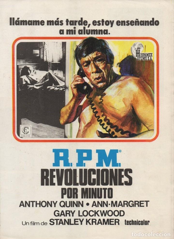 R.P.M. REVOLUCIONES POR MINUTO (Cine - Guías Publicitarias de Películas )