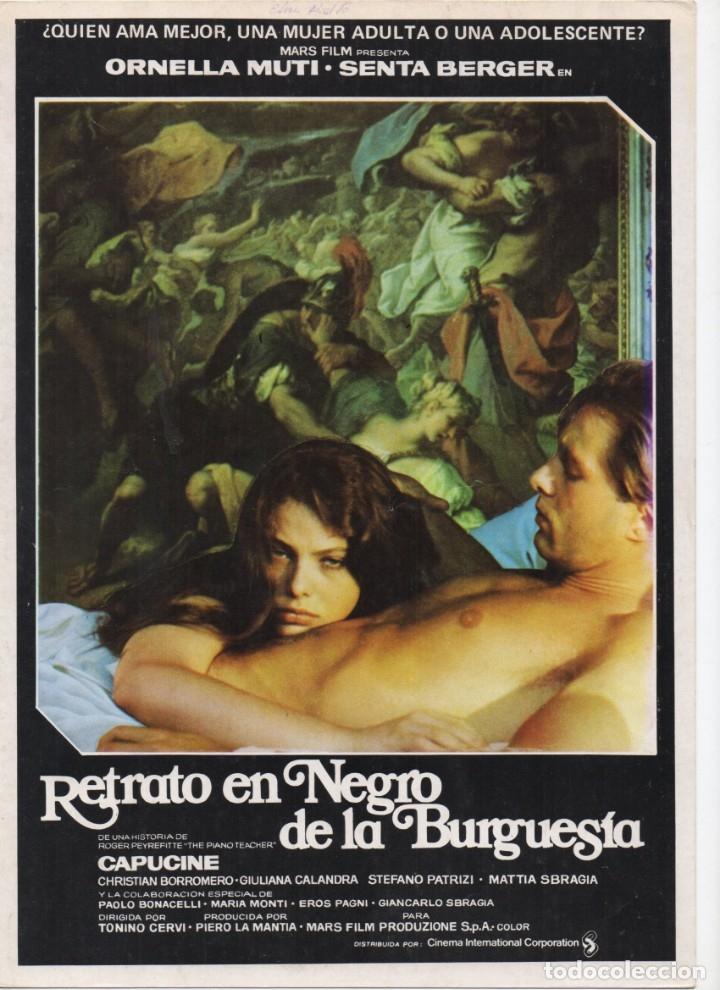 RETRATO EN NEGRO DE LA BURGUESÍA (Cine - Guías Publicitarias de Películas )