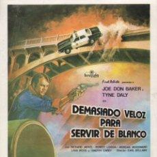 Cine: DEMASIADO VELOZ PARA SERVIR DE BLANCO. Lote 172380562