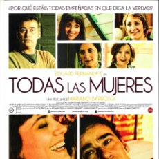 Cine: TODAS LAS MUJERES-GUIA ORIGINAL SENCILLA-ESTRENO PELICULA-. Lote 172421449