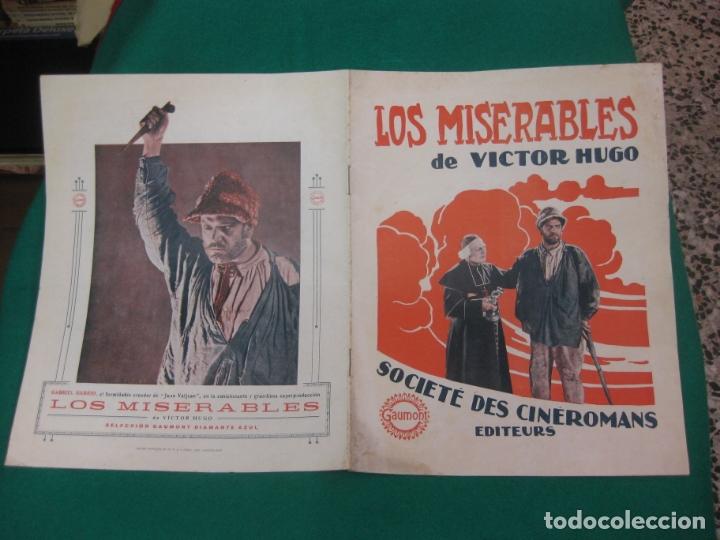LOS MISERABLES. GUIA PUBLICITARIA DE LA PELICULA. GAUMONT (Cine - Guías Publicitarias de Películas )