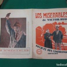 Cine: LOS MISERABLES. GUIA PUBLICITARIA DE LA PELICULA. GAUMONT. Lote 172551370