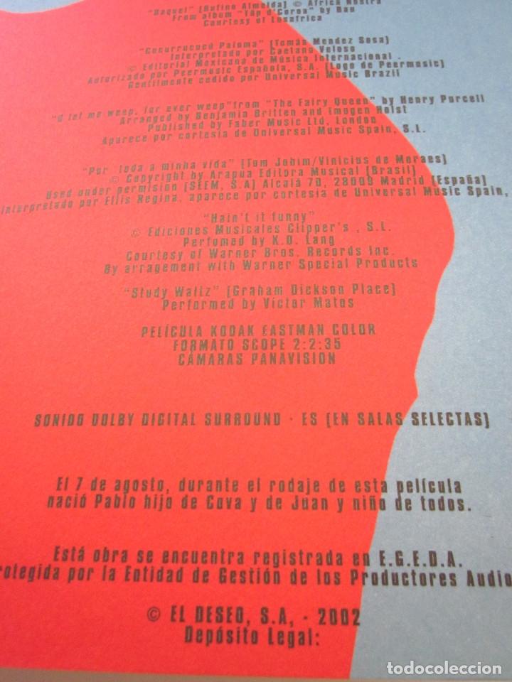 Cine: Guía Película Revista Almodóvar Hable con ella 2002 El Deseo - Foto 10 - 172825820