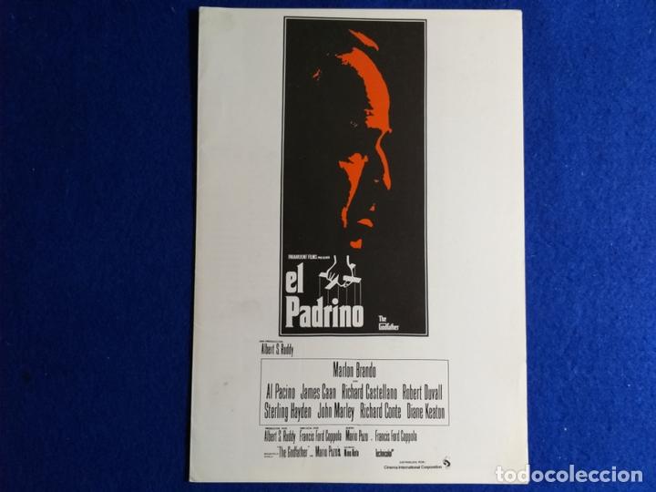 GUIA PUBLICITARIA: EL PADRINO. CON: MARLON BRANDO (Cine - Guías Publicitarias de Películas )