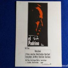 Cine: GUIA PUBLICITARIA: EL PADRINO. CON: MARLON BRANDO . Lote 172891125