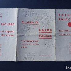 Cine: PROGRAMA CINE AÑO 1935 / PATHE PALACE - BARCELONA / NOBLEZA BATURRA. Lote 172903134