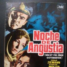Cine: GUÍA PUBLICITARIA DE LA PELÍCULA NOCHE DE ANGUSTIA, SONJA ZIEMANN, 4 HOJAS. Lote 173498939