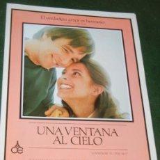 Cine: UNA VENTANA AL CIELO - GUIA PUBLICITARIA - BEAU BRIDGES. Lote 174037885