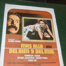 Cine: MAS ALLA DEL BIEN Y DEL MAL - GUIA PUBLICITARIA - LILIANA CAVANI. Lote 174038060