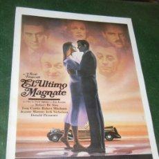 Cine: EL ULTIMO MAGNATE - GUIA PUBLICITARIA - ROBERT DE NIRO, TONY CURTIS, 1977. Lote 174038212