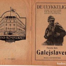 Cine: CINE MUDO - FOLLETO DE MANO DANÉS (GUÍAS) - LOS MISERABLES - 1925. Lote 174209383