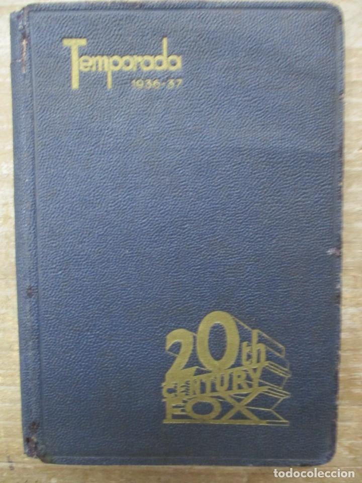 GUIA AGENDA PROGRAMACION 1936 / 1937 20TH CENTURY FOX TEMPORADA - SIMIL PIEL GUERRA CIVIL RARISIMA (Cine - Guías Publicitarias de Películas )