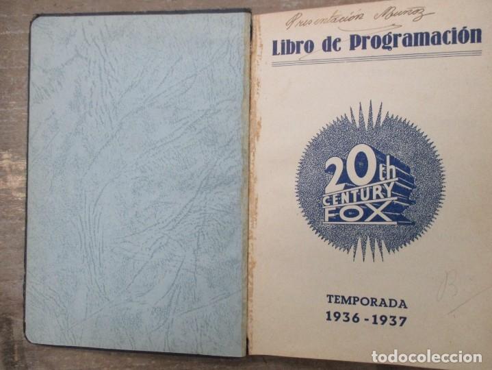 Cine: GUIA AGENDA PROGRAMACION 1936 / 1937 20th CENTURY FOX TEMPORADA - SIMIL PIEL GUERRA CIVIL RARISIMA - Foto 3 - 174966690