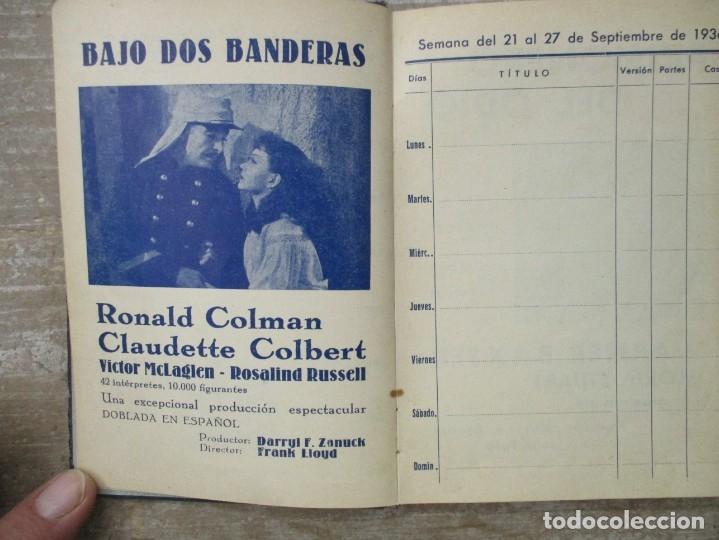 Cine: GUIA AGENDA PROGRAMACION 1936 / 1937 20th CENTURY FOX TEMPORADA - SIMIL PIEL GUERRA CIVIL RARISIMA - Foto 5 - 174966690