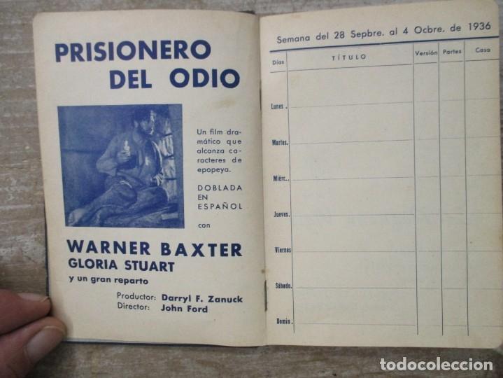 Cine: GUIA AGENDA PROGRAMACION 1936 / 1937 20th CENTURY FOX TEMPORADA - SIMIL PIEL GUERRA CIVIL RARISIMA - Foto 6 - 174966690