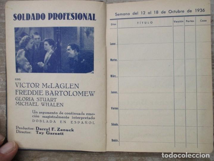 Cine: GUIA AGENDA PROGRAMACION 1936 / 1937 20th CENTURY FOX TEMPORADA - SIMIL PIEL GUERRA CIVIL RARISIMA - Foto 8 - 174966690