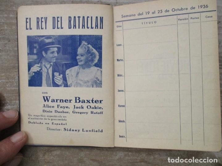 Cine: GUIA AGENDA PROGRAMACION 1936 / 1937 20th CENTURY FOX TEMPORADA - SIMIL PIEL GUERRA CIVIL RARISIMA - Foto 9 - 174966690