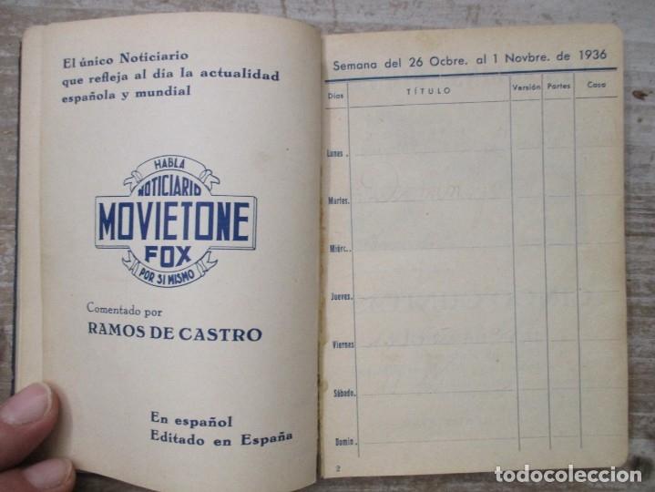 Cine: GUIA AGENDA PROGRAMACION 1936 / 1937 20th CENTURY FOX TEMPORADA - SIMIL PIEL GUERRA CIVIL RARISIMA - Foto 10 - 174966690