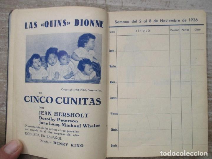 Cine: GUIA AGENDA PROGRAMACION 1936 / 1937 20th CENTURY FOX TEMPORADA - SIMIL PIEL GUERRA CIVIL RARISIMA - Foto 11 - 174966690