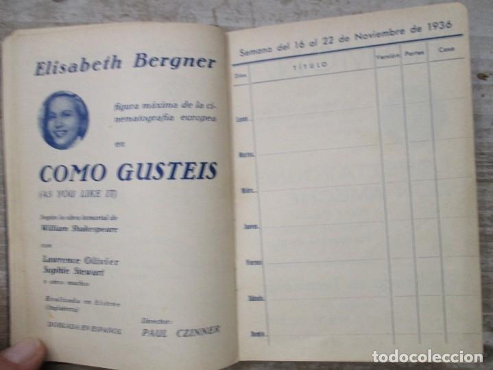 Cine: GUIA AGENDA PROGRAMACION 1936 / 1937 20th CENTURY FOX TEMPORADA - SIMIL PIEL GUERRA CIVIL RARISIMA - Foto 13 - 174966690