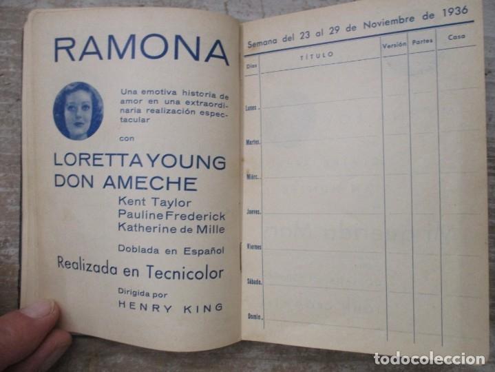 Cine: GUIA AGENDA PROGRAMACION 1936 / 1937 20th CENTURY FOX TEMPORADA - SIMIL PIEL GUERRA CIVIL RARISIMA - Foto 14 - 174966690