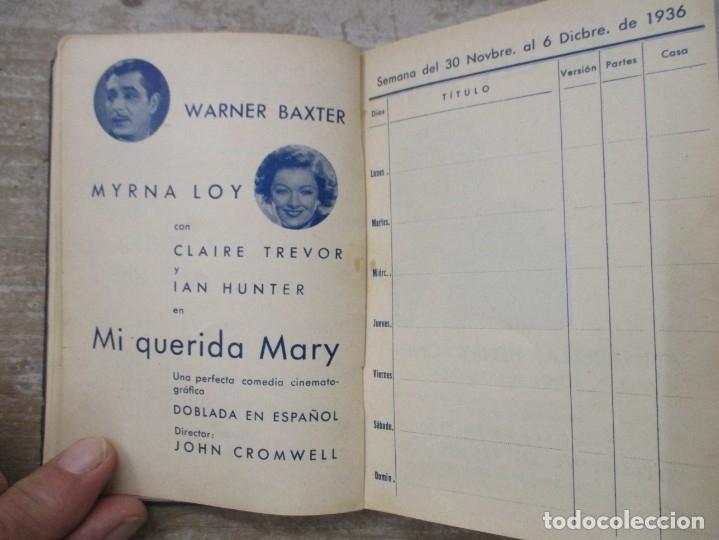 Cine: GUIA AGENDA PROGRAMACION 1936 / 1937 20th CENTURY FOX TEMPORADA - SIMIL PIEL GUERRA CIVIL RARISIMA - Foto 15 - 174966690