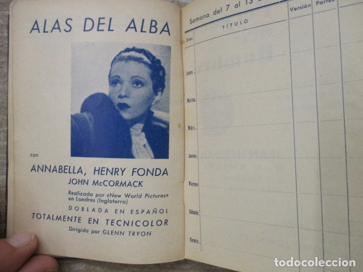 Cine: GUIA AGENDA PROGRAMACION 1936 / 1937 20th CENTURY FOX TEMPORADA - SIMIL PIEL GUERRA CIVIL RARISIMA - Foto 16 - 174966690