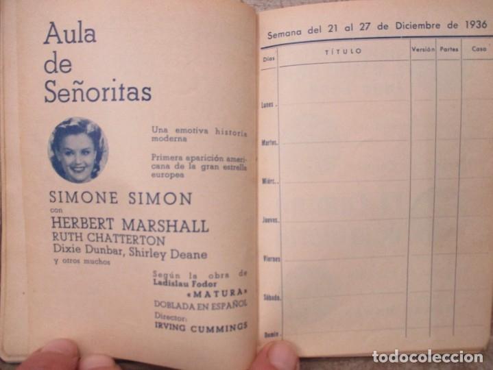 Cine: GUIA AGENDA PROGRAMACION 1936 / 1937 20th CENTURY FOX TEMPORADA - SIMIL PIEL GUERRA CIVIL RARISIMA - Foto 18 - 174966690