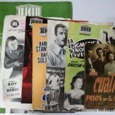 Cine: LOTE DE 7 GUIAS DE CINE. PELICULAS AÑOS 40 Y 50. ORIGINALES. RARAS.. Lote 175188128