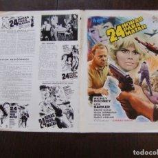 Cine: GUIA DOBLE DE CINE ORIGINAL ESTRENO / 24 HORAS PARA MATAR / MICKEY ROONEY / LEX BARKER. Lote 175861898