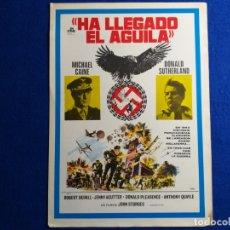 Cine: GUIA PUBLICITARIA ORIGINAL DE LA PELICULA: HA LLEGADO EL AGUILA. CON MICHAEL CAINE, DONALD SUTHERLAN. Lote 175908884