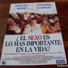 Cinéma: EL SEXO ES LO MAS IMORTANTE EN LA VIDA - MIGUEL BOSÉ,CHIARA CASELLI - GUIA ORIGINAL TRIPICTURES 1996. Lote 175926363