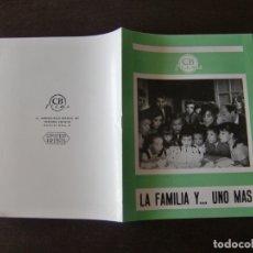 Cine: GUIA DE CINE ORIGINAL ESTRENO 12 PAGINAS / LA FAMILIA Y... UNO MAS /ALBERTO CLOSAS / SOLEDAD MIRANDA. Lote 176410163